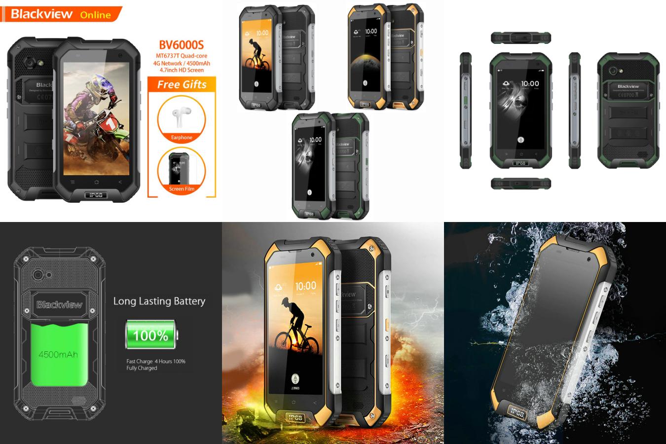 Самый защищенный смартфон Blackview BV6000S