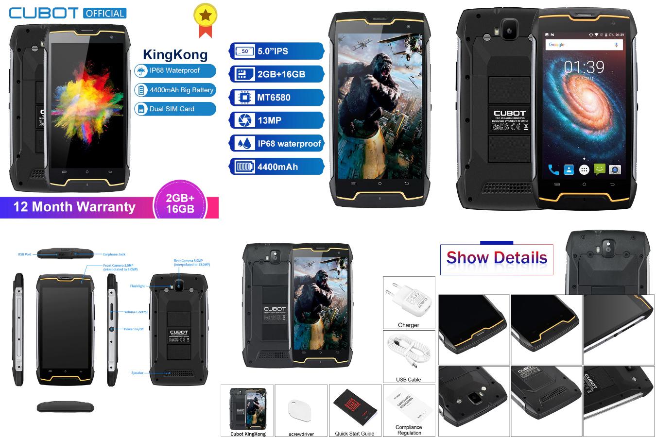 Недорогой защищенный смартфон Cubot KingKong