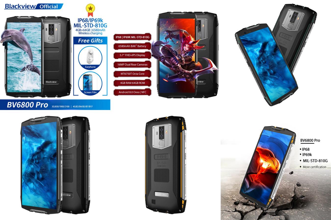 Брутальный смартфон Blackview BV6800 Pro