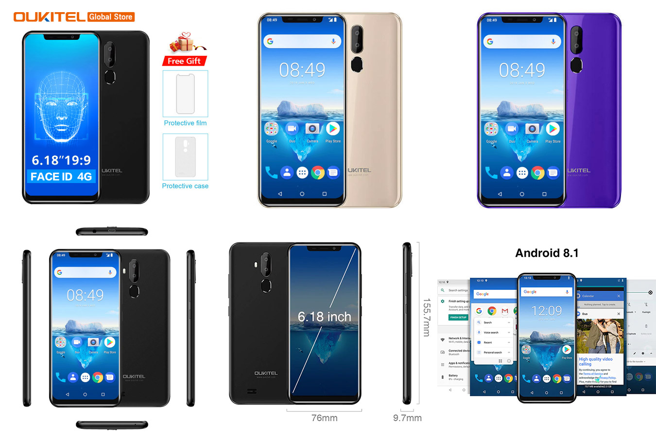 Бюджетный смартфон Oukitel C12 Pro