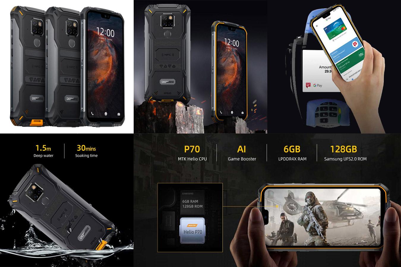 Водонепроницаемый смартфон с мощной батареей DOOGEE S68 Pro