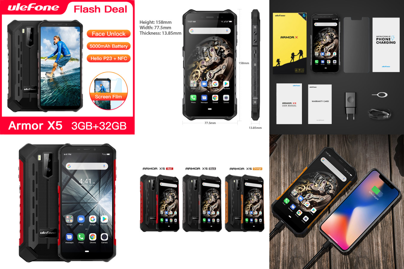 Мобильный телефон с мощным аккумулятором Ulefone Armor X5
