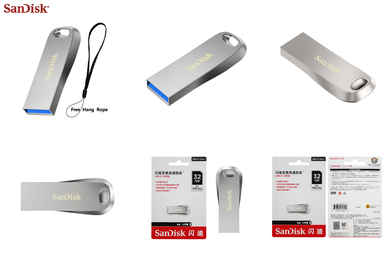 Компактная флешка большой ёмкости USB 3.1 Flash drive