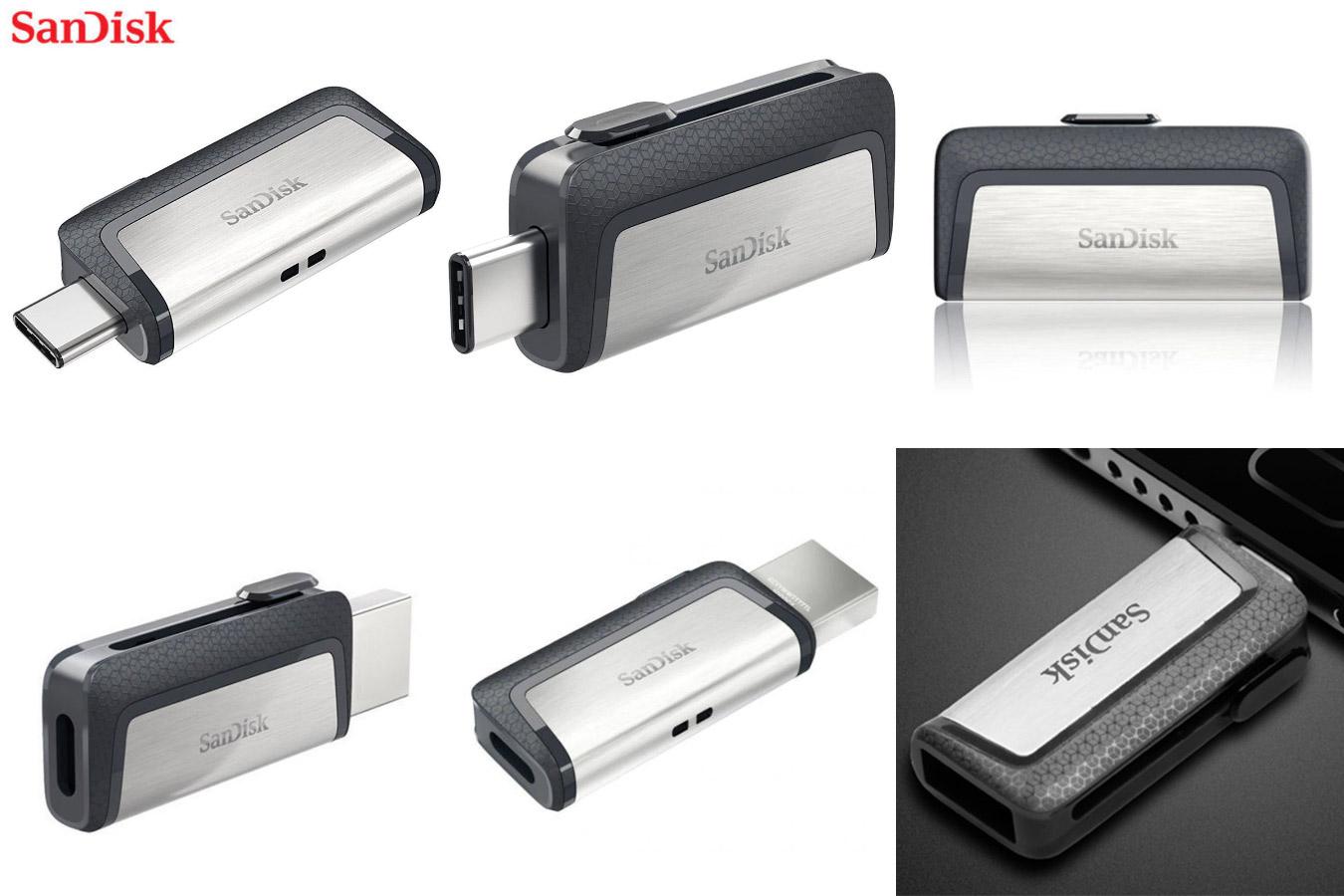 Быстрая двойная флешка SanDisk USB Flash drive 3.1