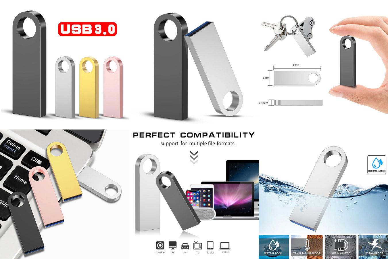 Лучшая металлическая флешка Flash drive 3.0