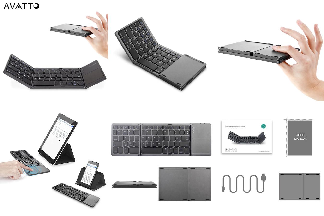 Складная клавиатура для смартфонов с тачпадом AVATTO A18