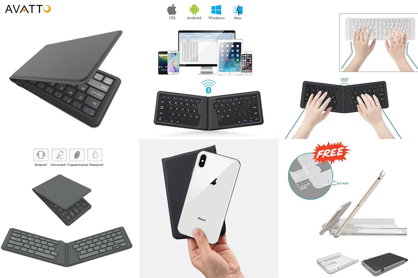 Универсальная складная клавиатура AVATTO A20