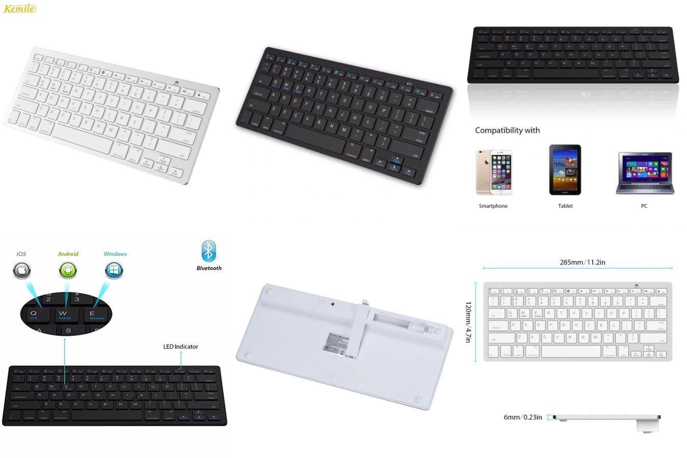 Ультратонкая стандартная клавиатура с алиэкспресс Kemile X5