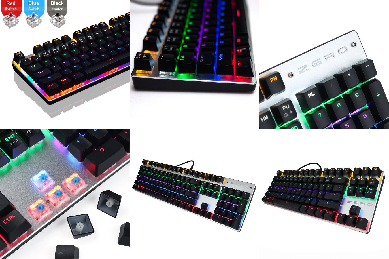 Игровая клавиатура с разноцветной подсветкой ME TOO ZERO