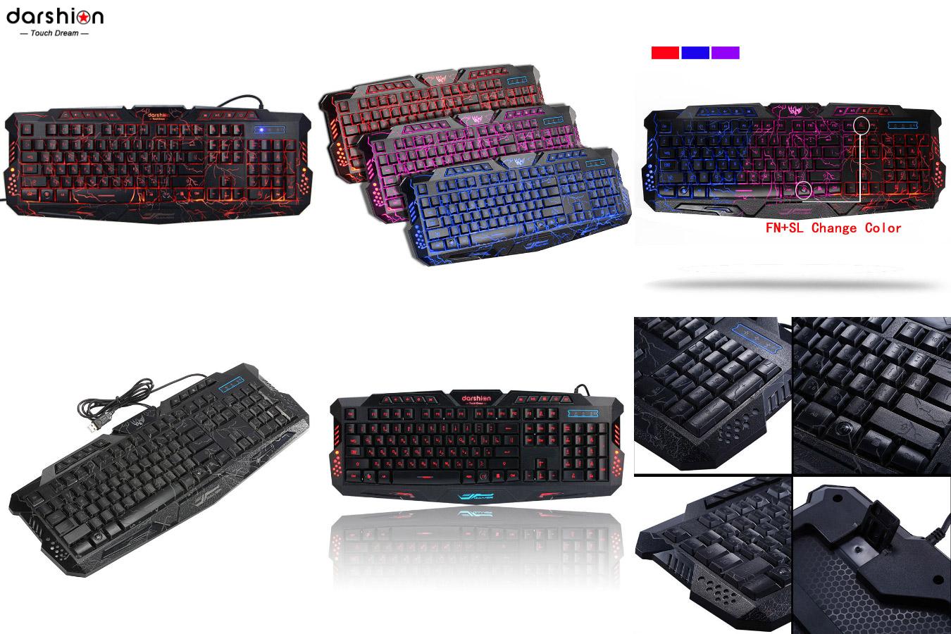 Игровая клавиатура с необычным дизайном DTD m200