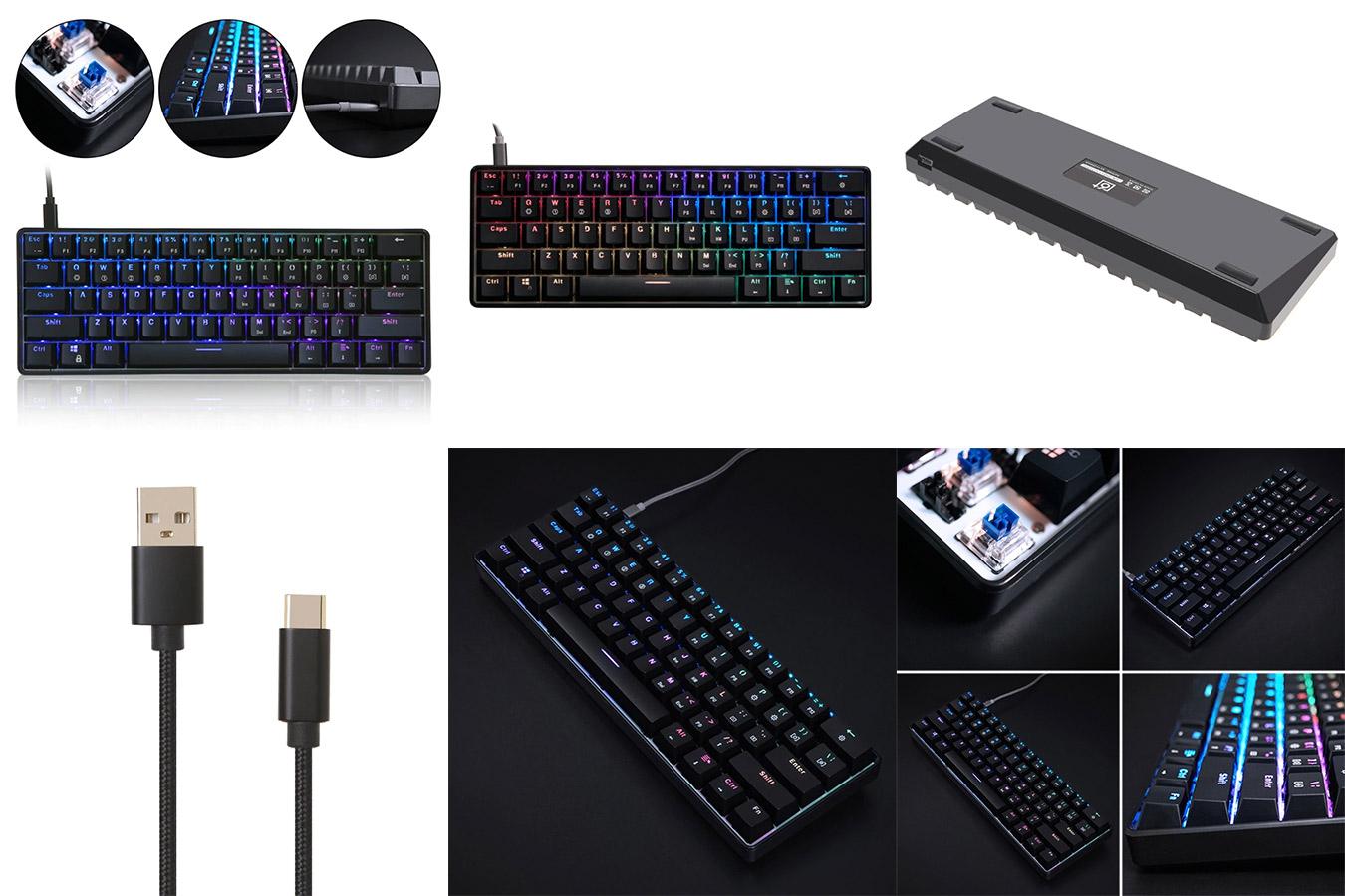 Надёжная клавиатура с подсветкой с алиэкспресс