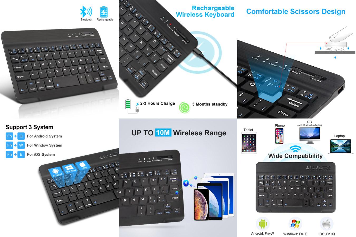 Надёжная классическая клавиатура для планшета