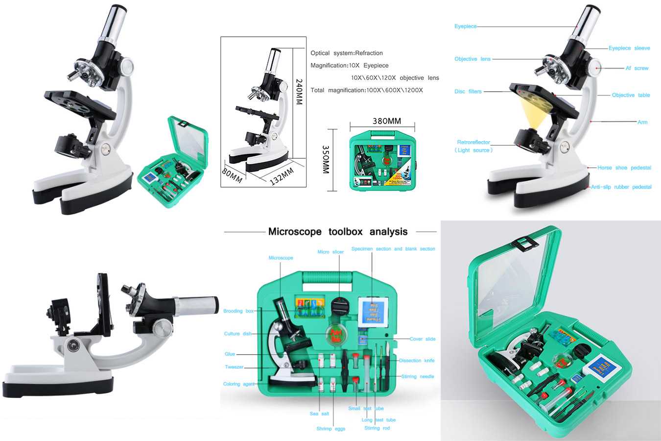 Микроскоп для детей 1200x Digital Microscope