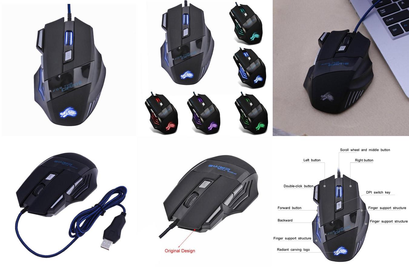 Бюджетная мышь для игр VODOOL Gaming Mouse