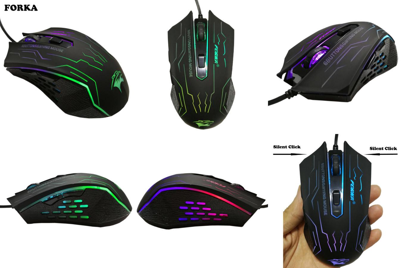 Качественная мышка с алиэкспресс FORKA LQS Gaming Mouse