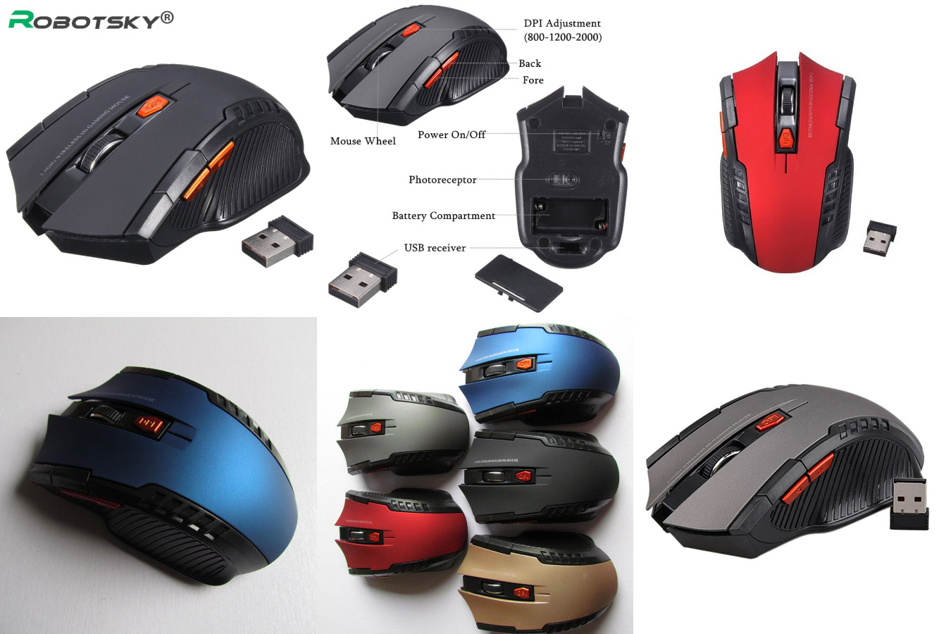 Недорогая мышка для начинающих геймеров Robotsky
