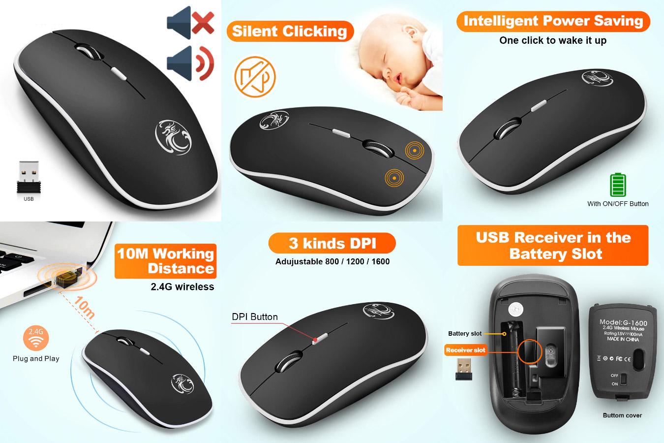 Недорогая беспроводная мышка для ПК iMice LM501601