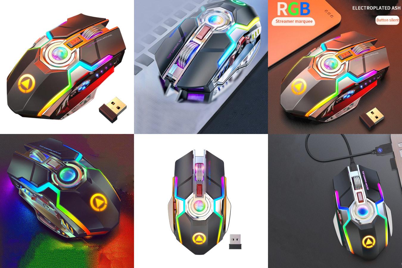 Беспроводная мышь с ярким дизайном SUNROSE 214