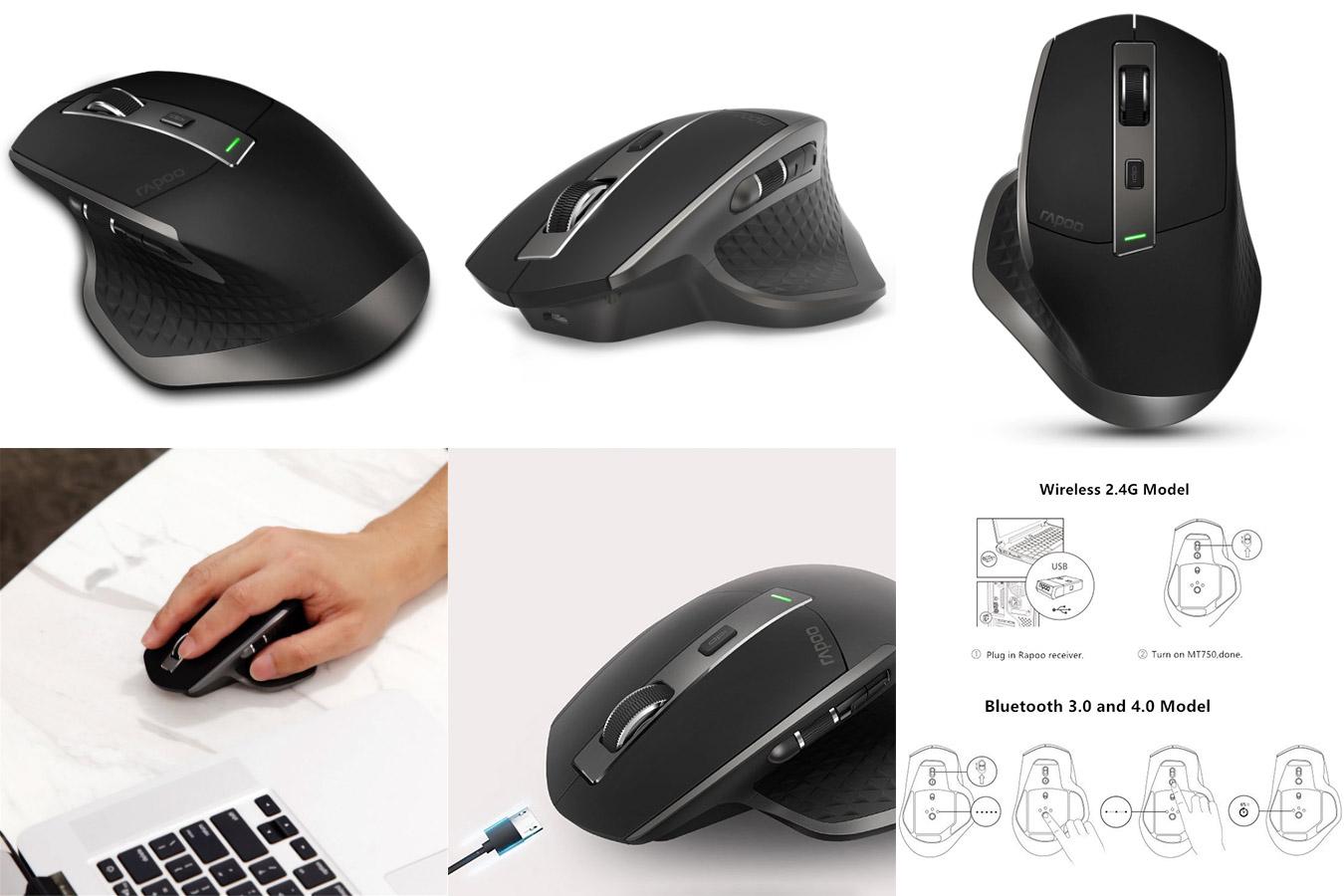 Быстрая точная компьютерная мышка RAPOO MT750