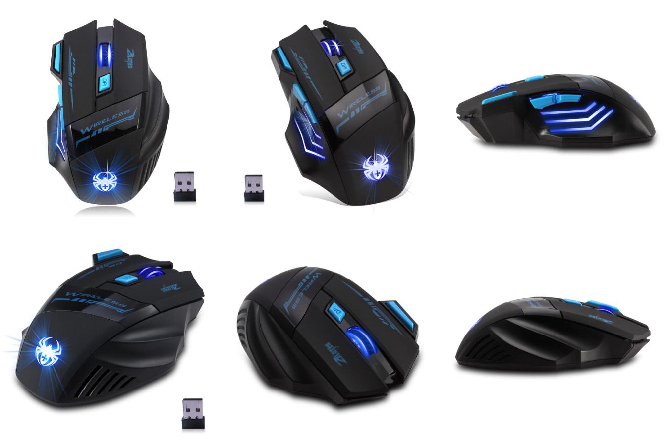 Яркая игровая мышь ZELOTES F14