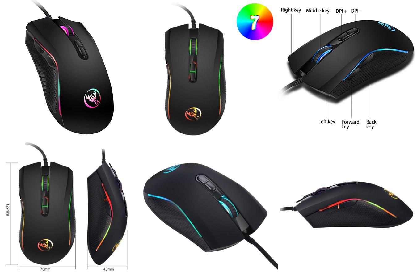 Компьютерная мышь для левши HXSJ A869