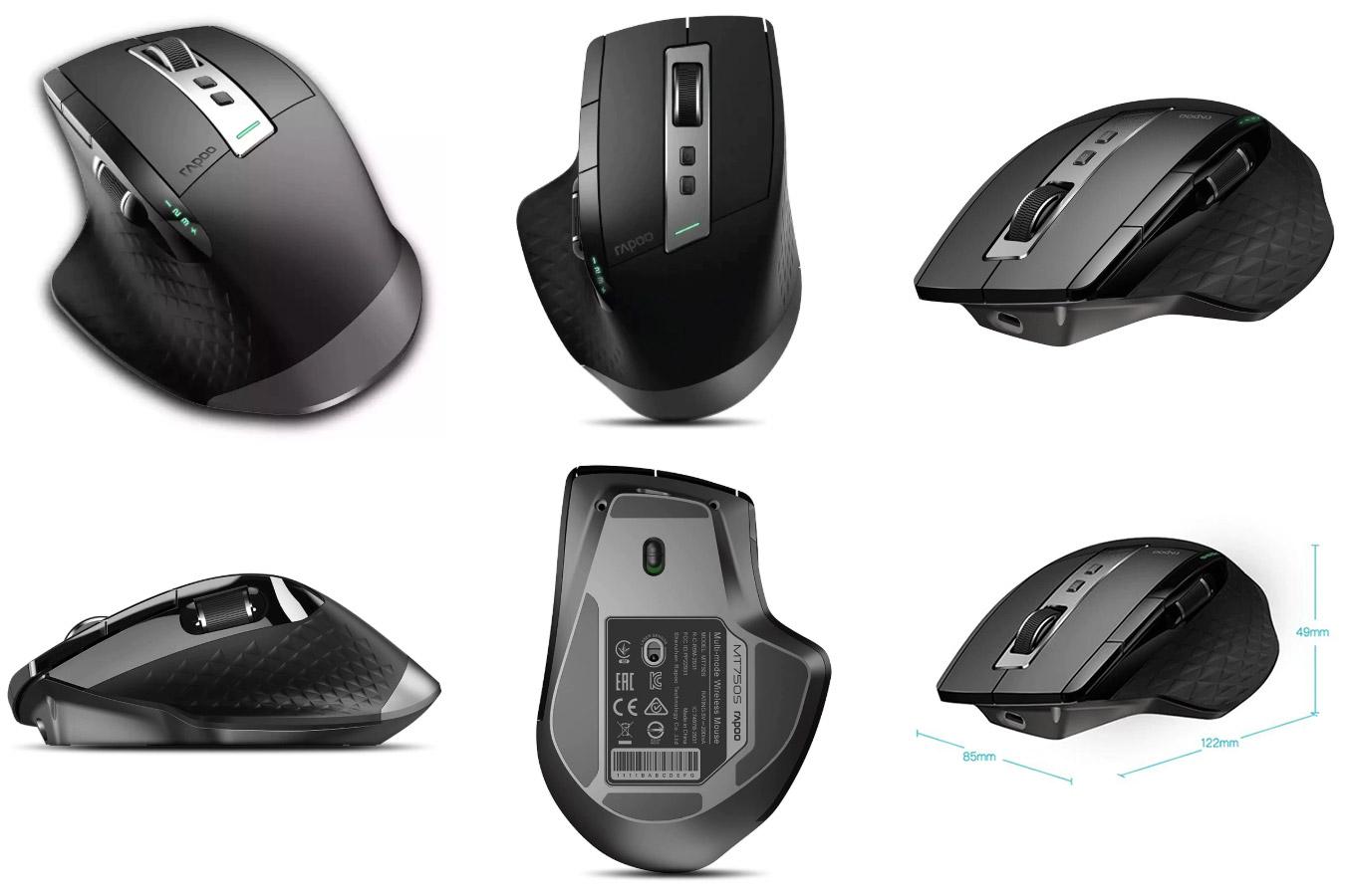Многорежимная мышь для длительных игр Rapoo Rechargeable Bluetooth mouse