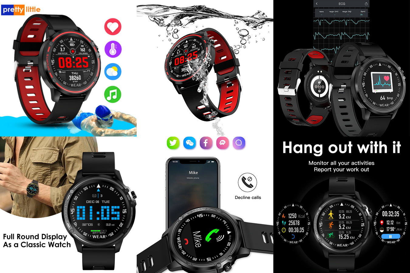Мужские смарт-часы для плавания L8