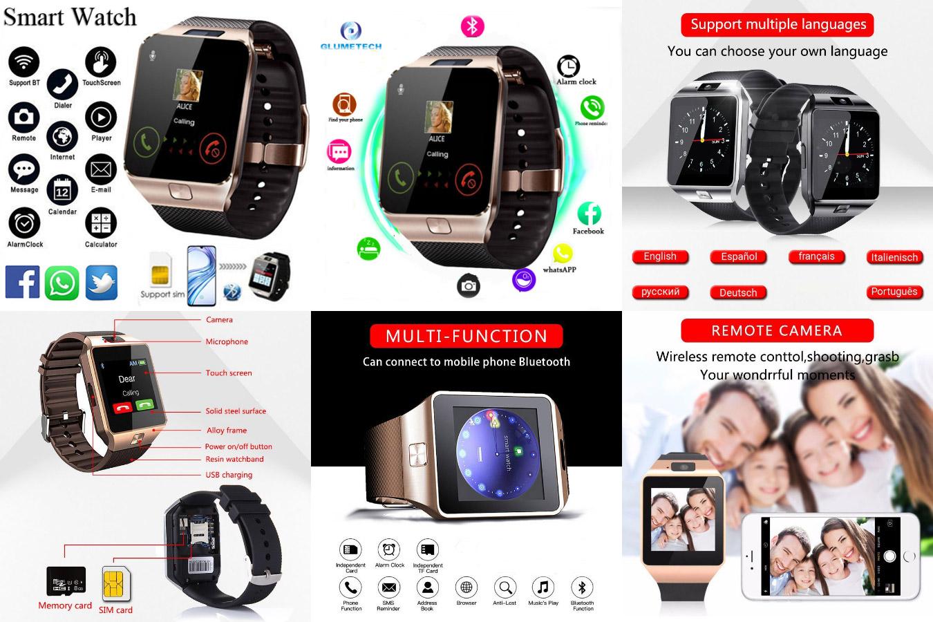 Умные смарт-часы с сим-картой GlumeTech Dz09