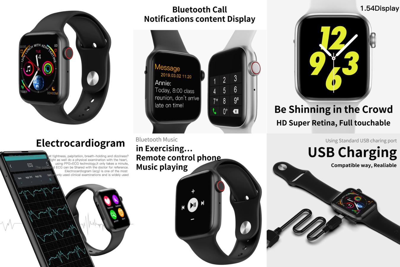 Смарт-часы со счетчиком калорий COXANG iwo 8