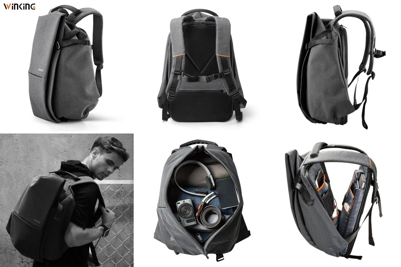 Мужской рюкзак с необычным дизайном