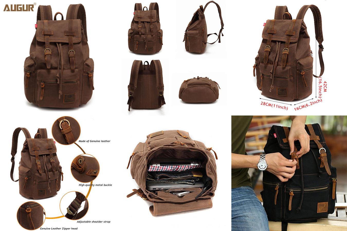 Ретро-рюкзак для поездок и города