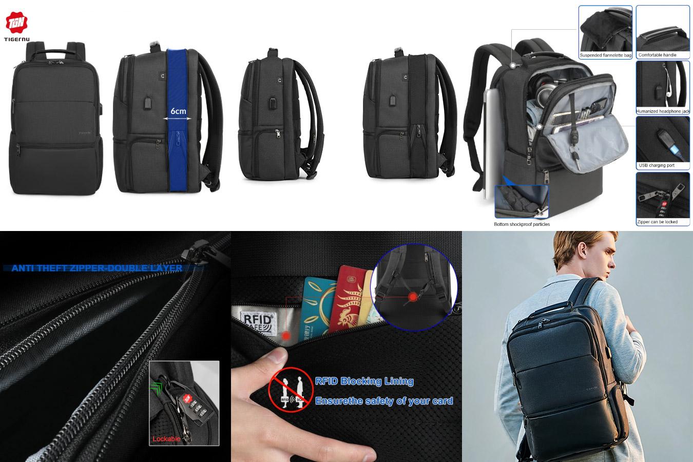Вместительный рюкзак для ноутбука