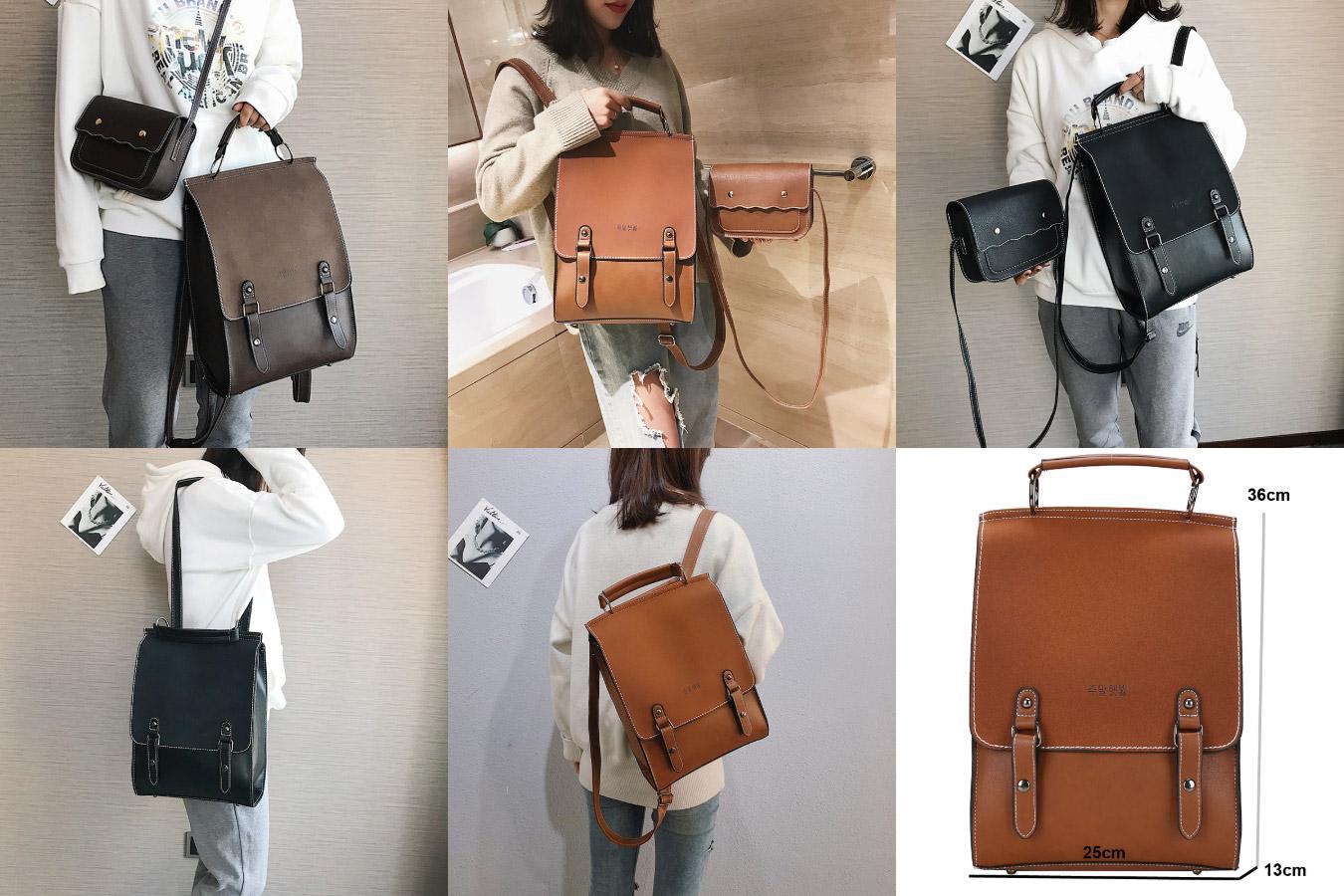 Стильный женский прямоугольный рюкзак