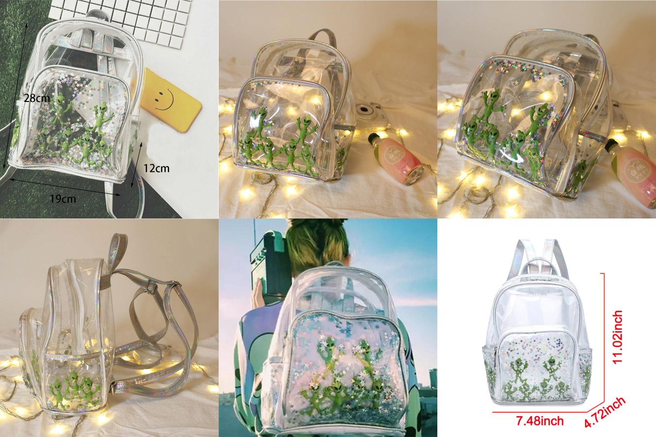 Прозрачный рюкзак с алиэкспресс