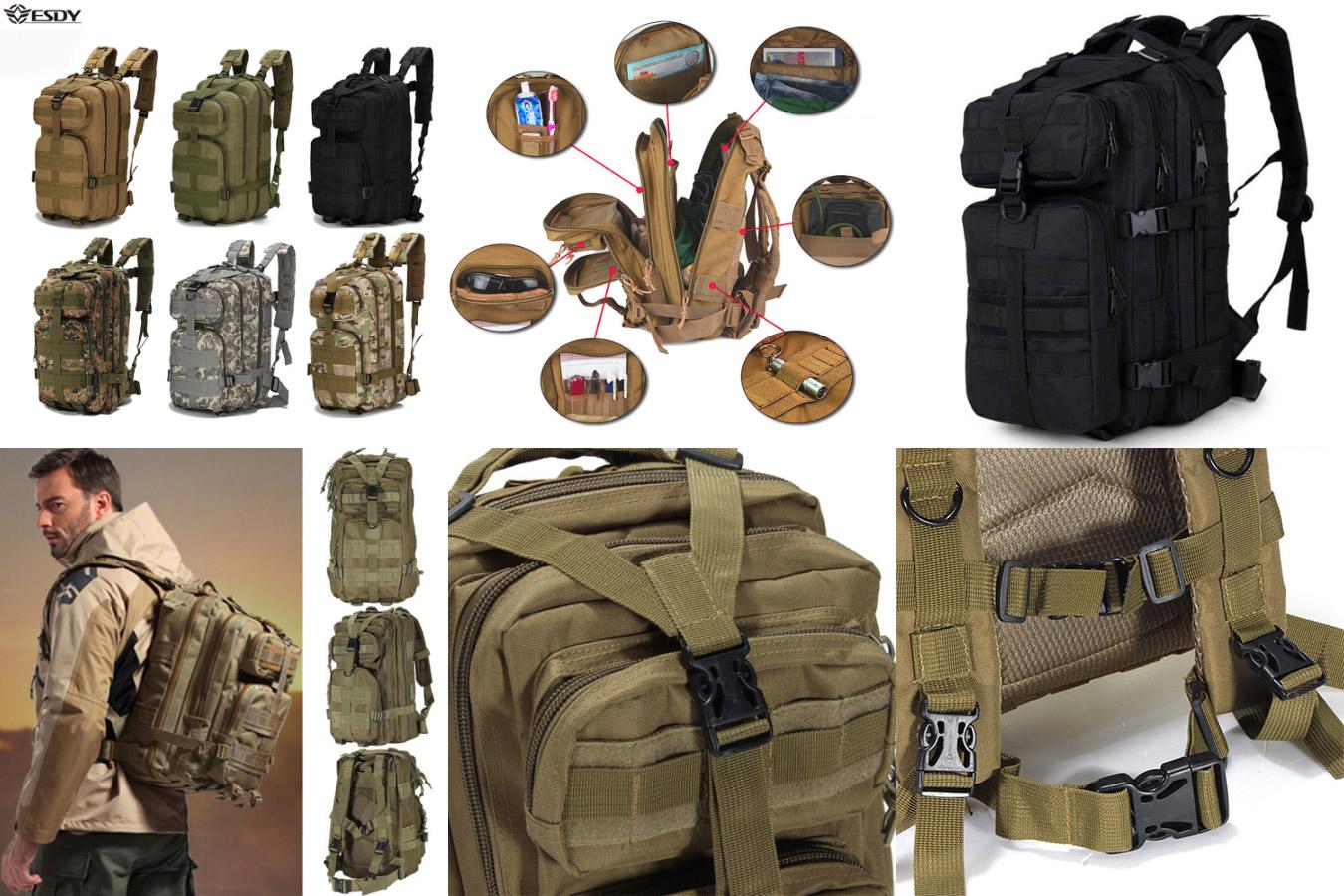 Мужской рюкзак в стиле милитари