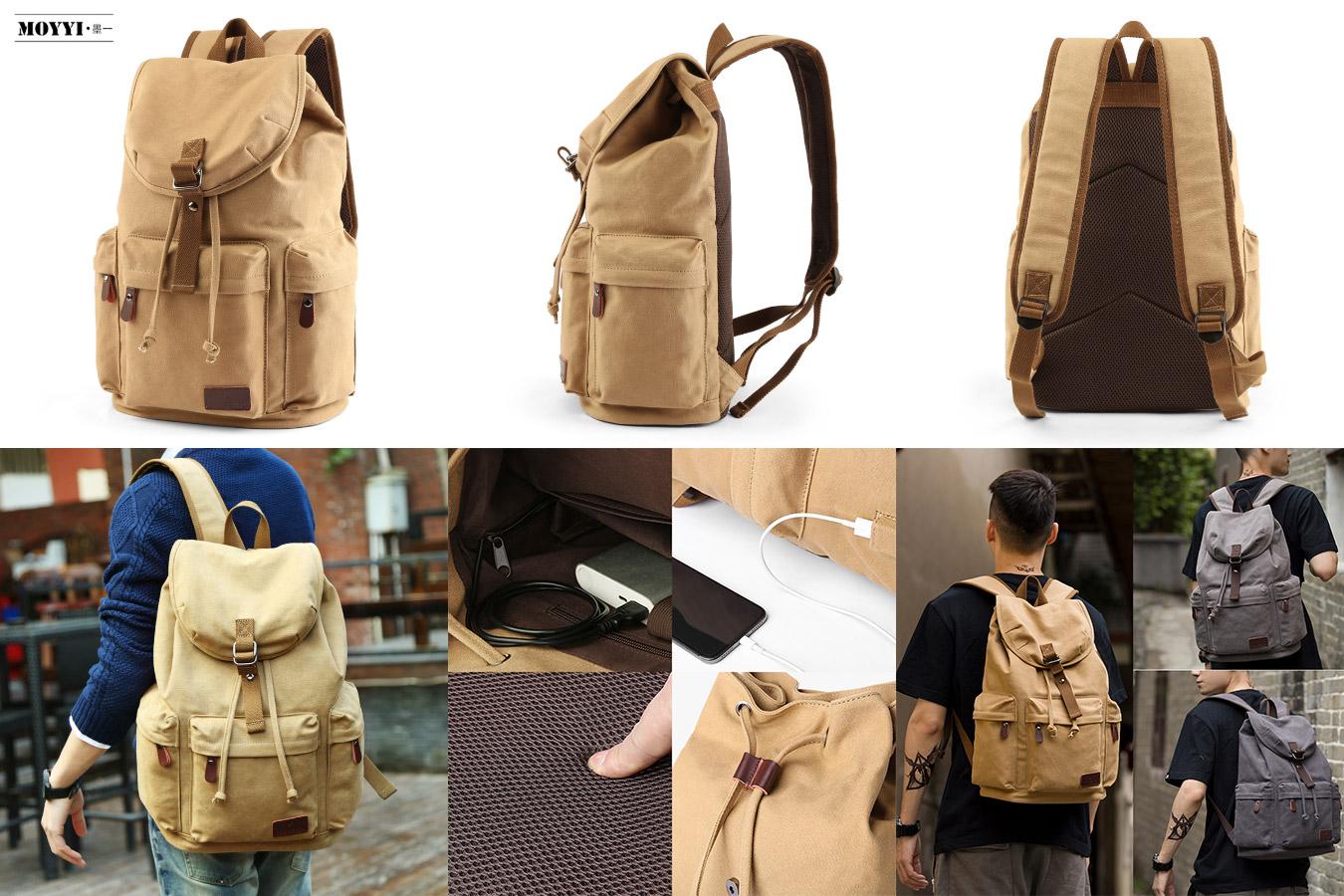 Винтажный рюкзак для путешественников