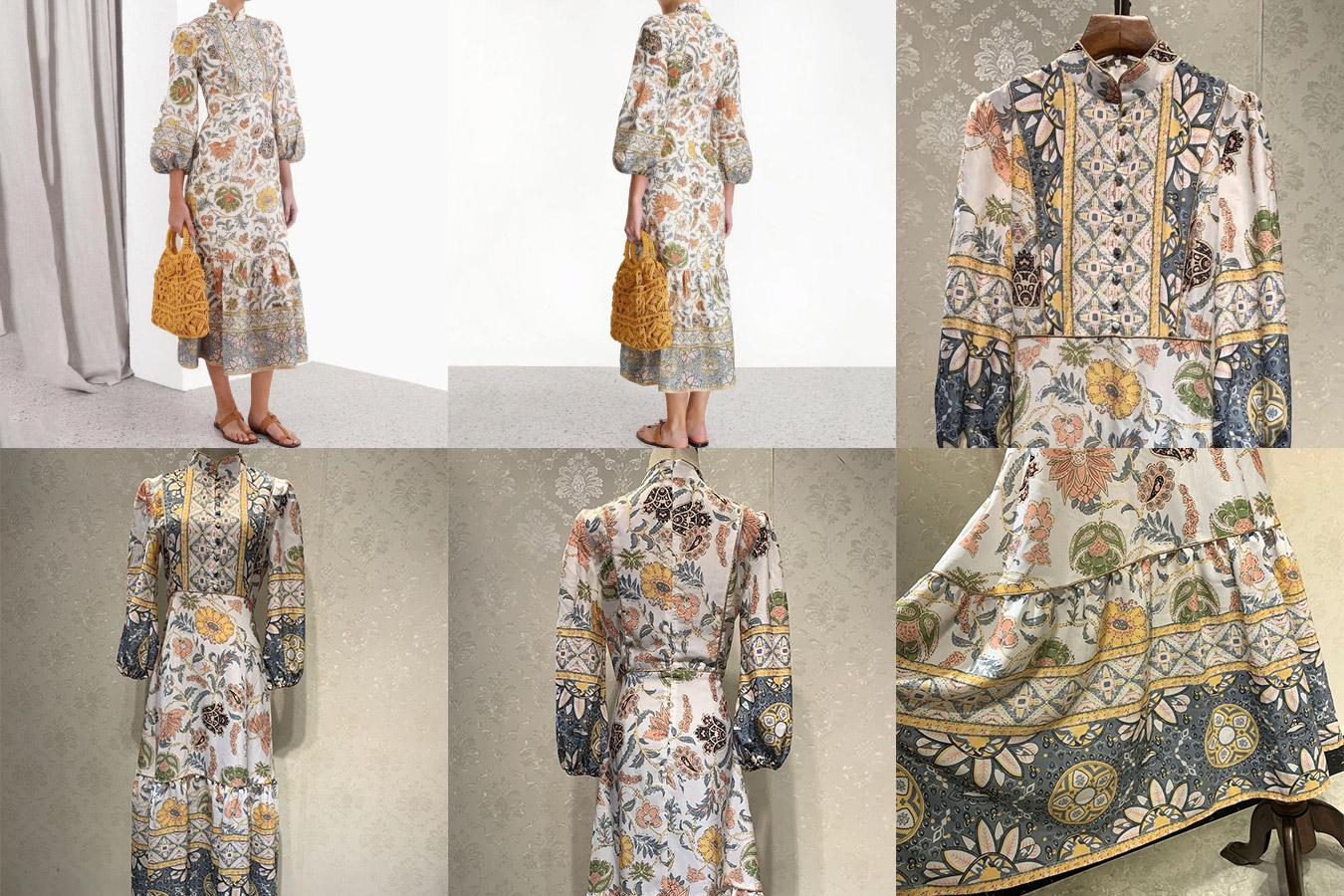Винтажное весеннее платье
