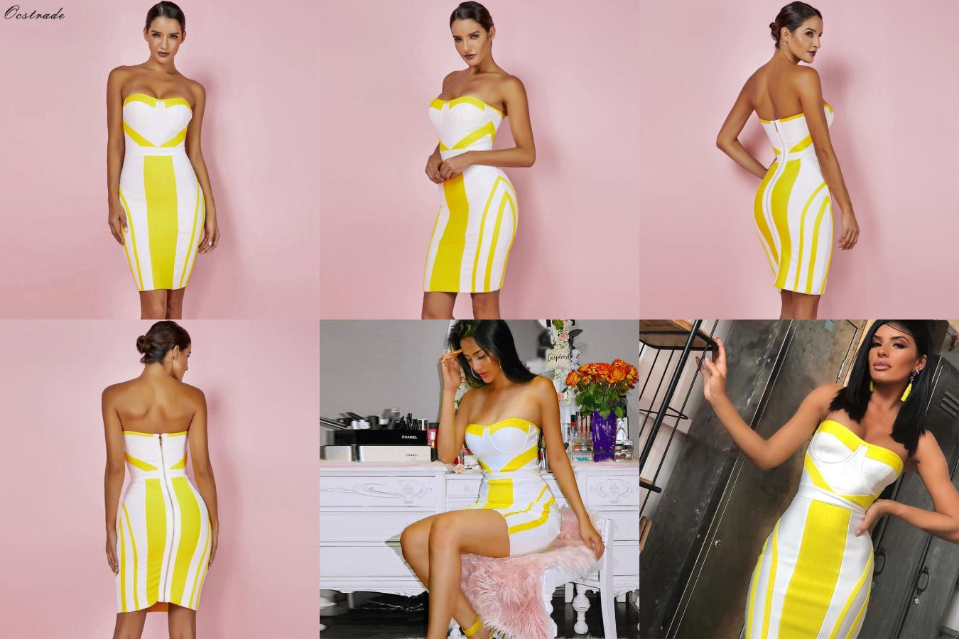 Желтое платье с алиэкспресс