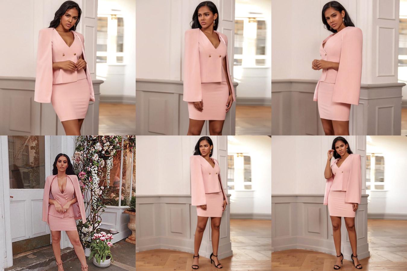 Нежно розовое облегающее платье