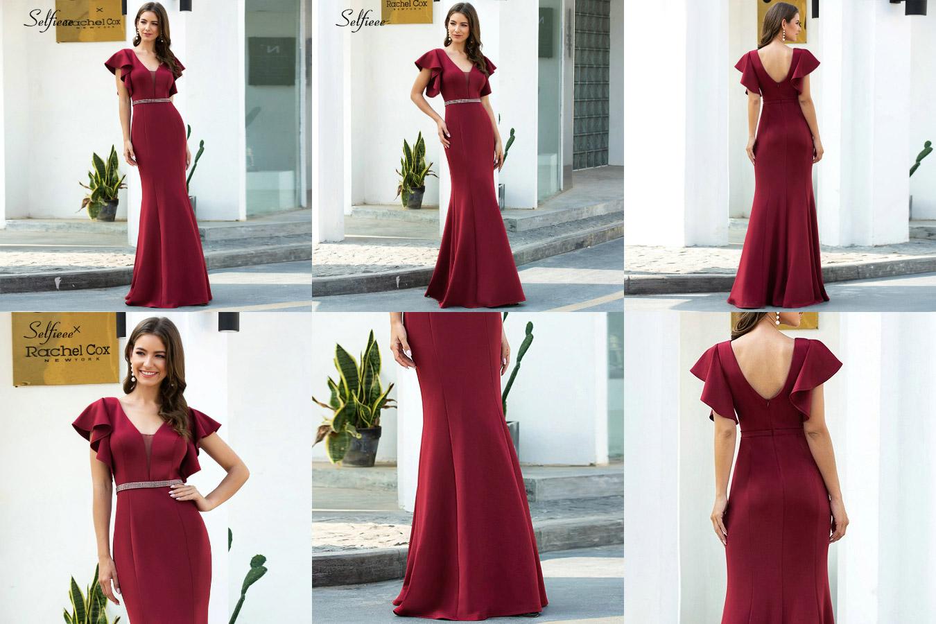 Бордовое платье-макси