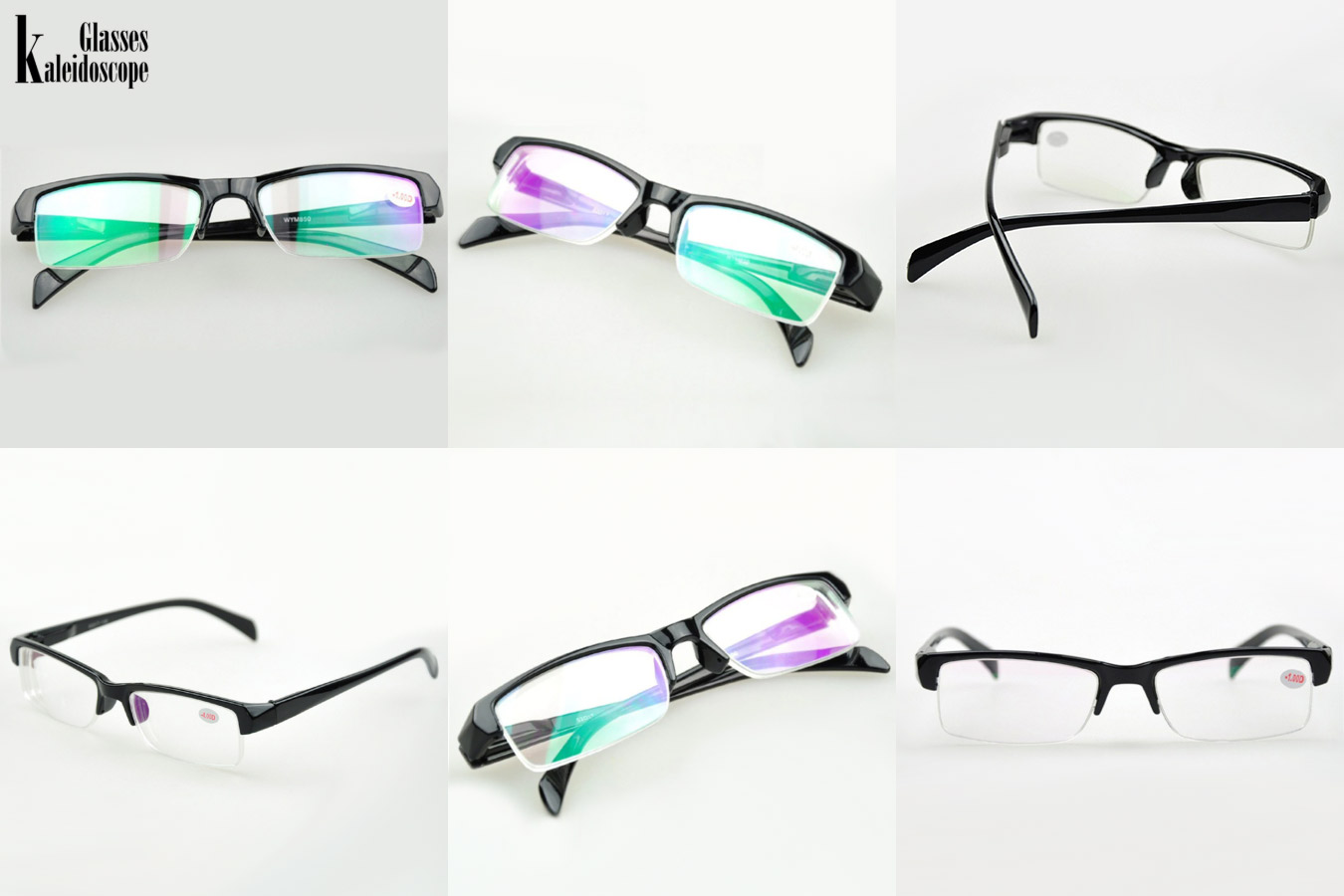 Очки без оправы с радужными стеклами