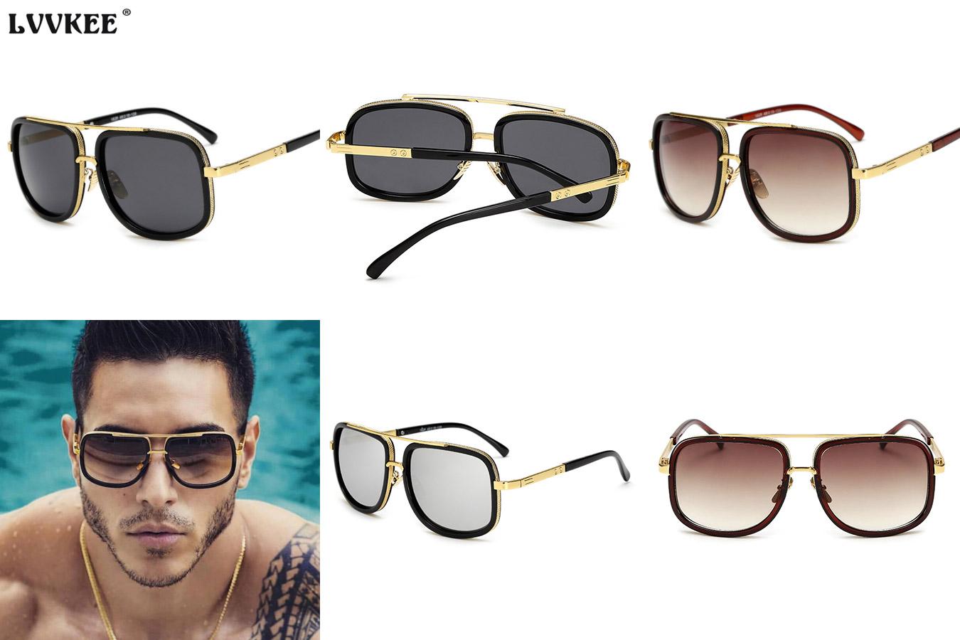 Мужские очки с золотистой оправой