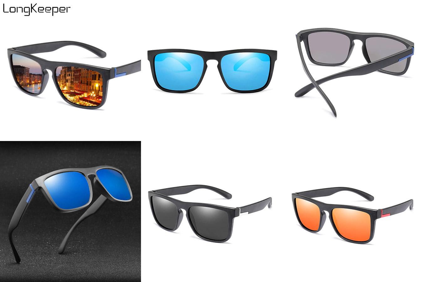 Зеркальные мужские очки с серой оправой