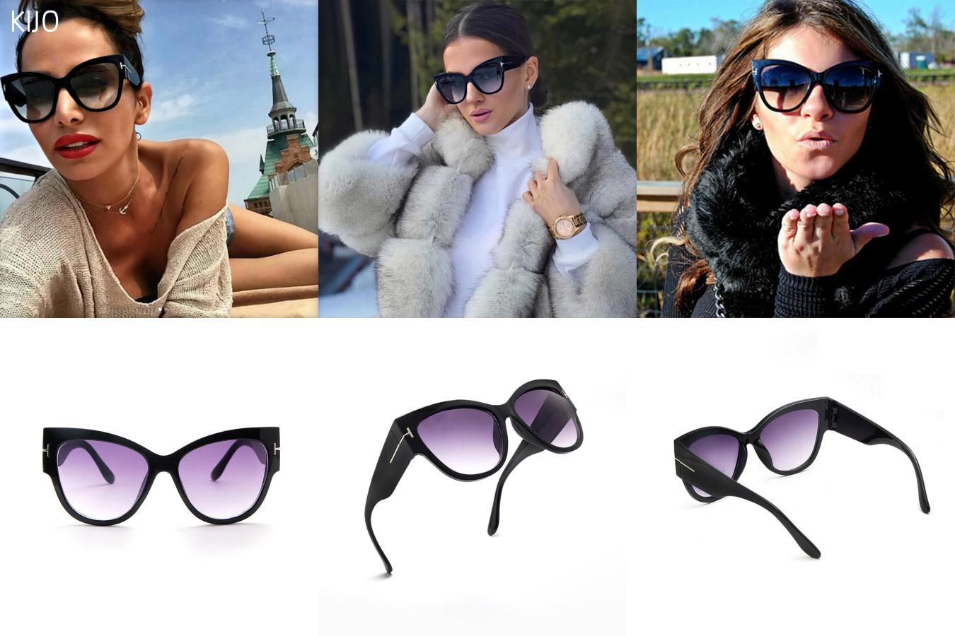 Классические женские очки с широкой оправой