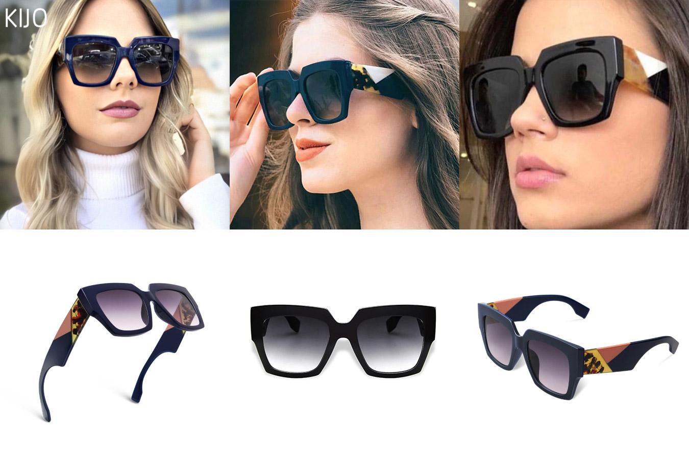 Крупные очки оверсайз с дизайнерской оправой