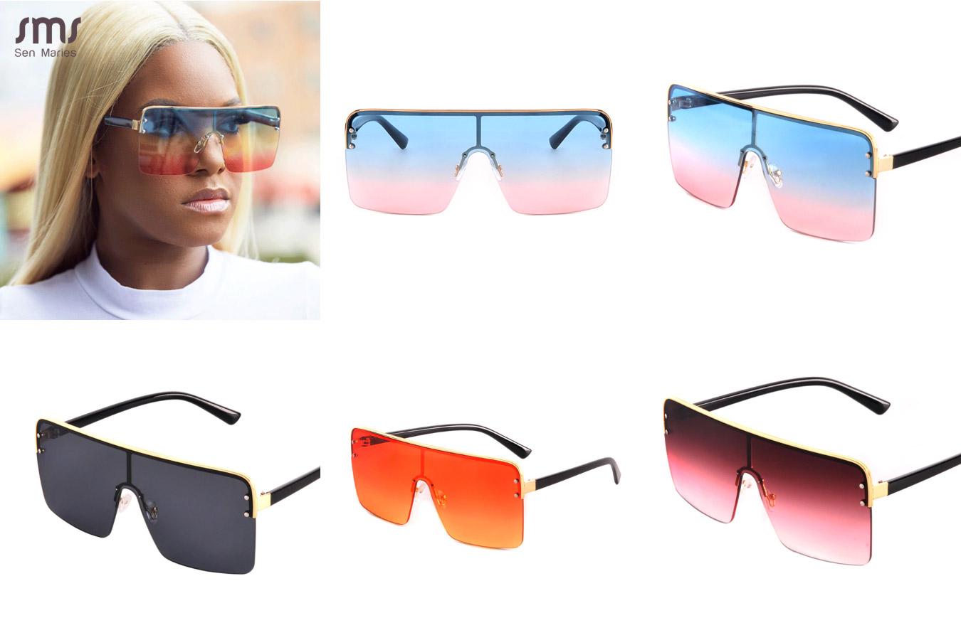 Утонченные полупрозрачные очки от солнца