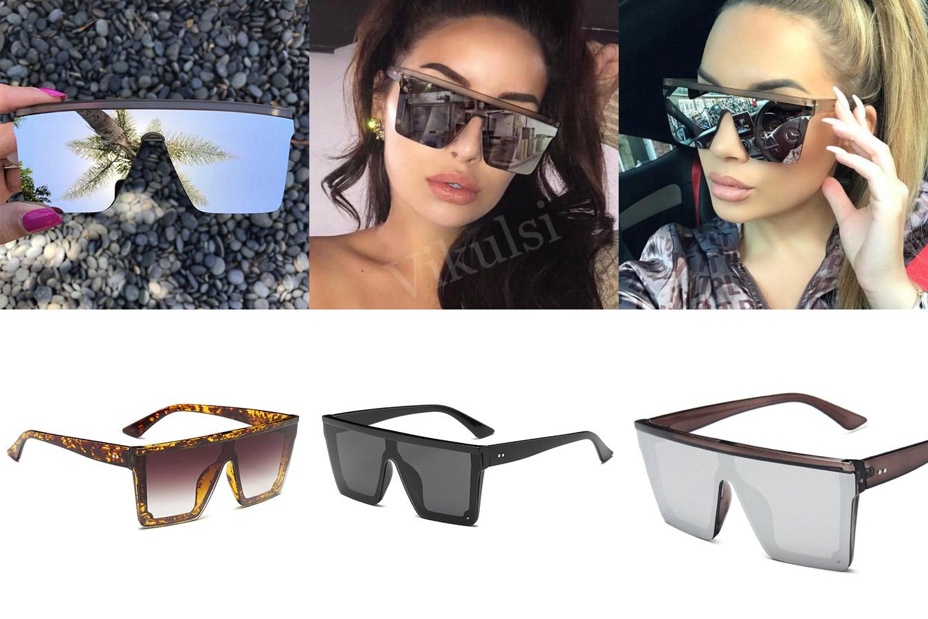 Стильные очки с широкими линзами
