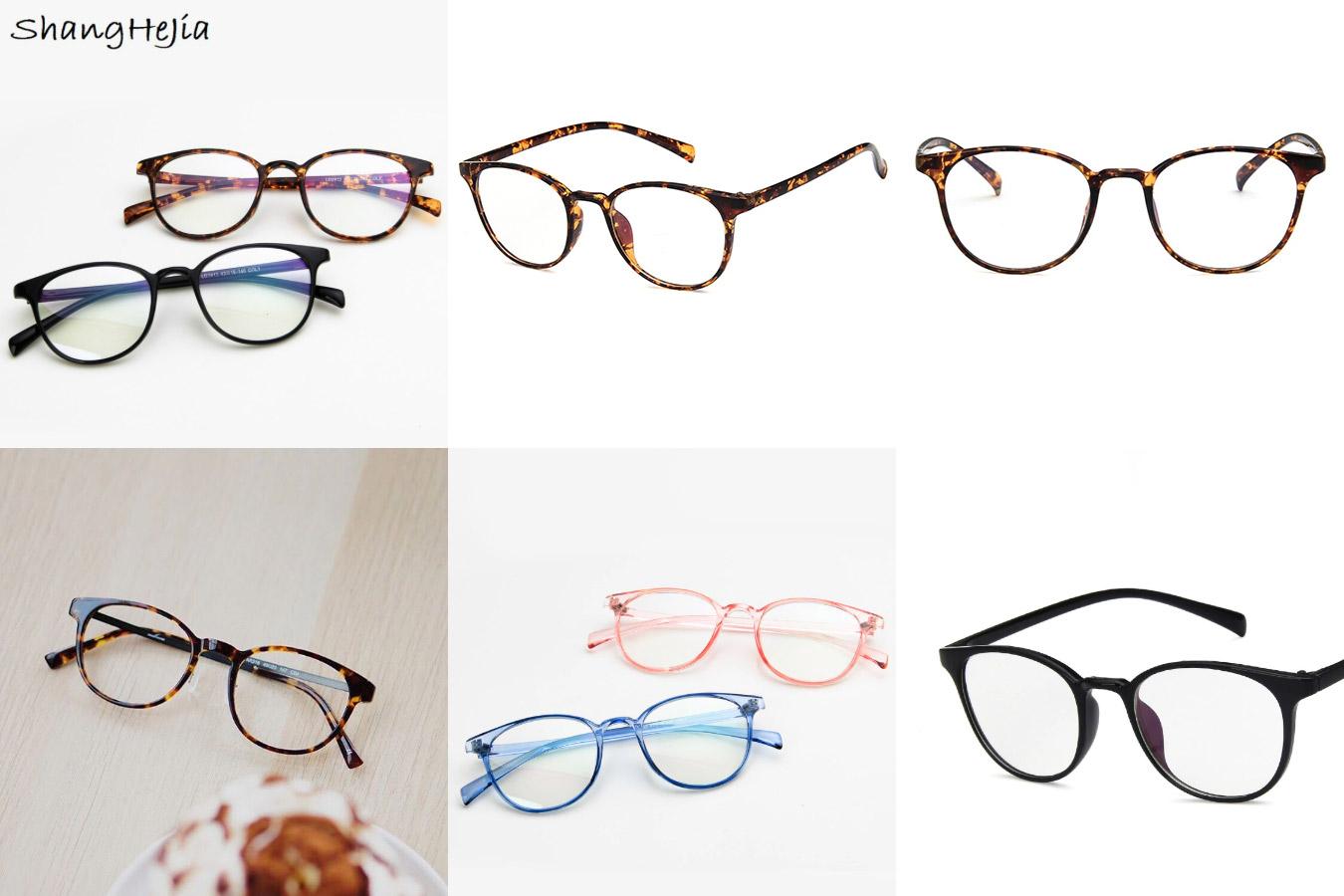 Ретро-очки со стилизованной роговой оправой