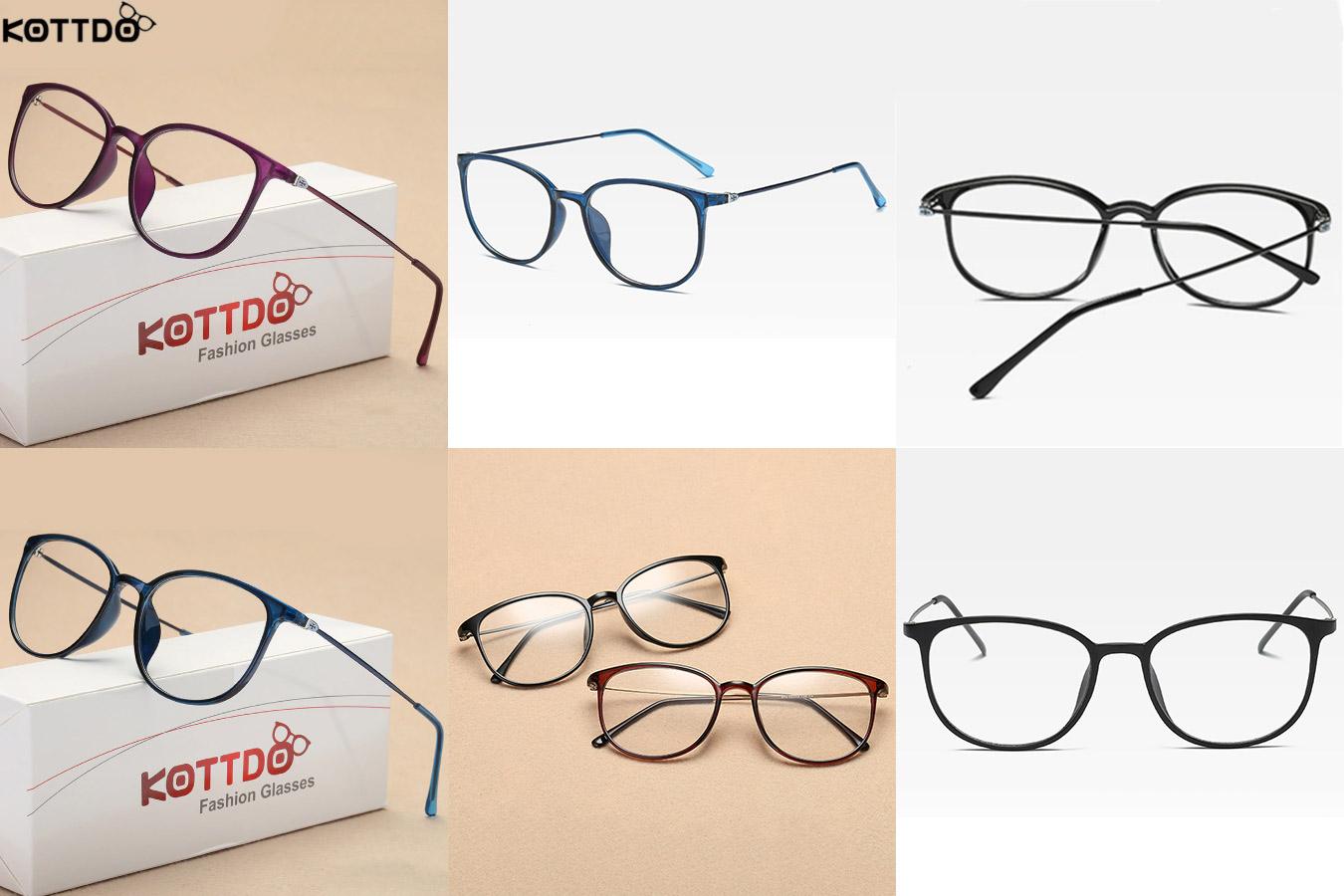 Легкие очки с цветной оправой