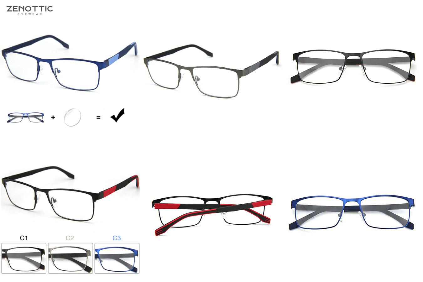 Прямоугольные очки с тонкой оправой